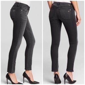 DL1961 Angel Mid Rise Skinny Ankle Jean Metal Gray
